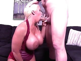 Big Tits Wifey Alura Jenson Spreads Her Gams To Be Fucked In Missionary