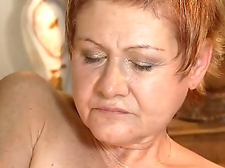 Older Honey Gets Hard Fucked And Jizz Shot Geyser On Face