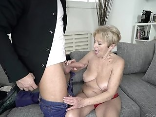Matures Freckled Granny Malya Cooch Fucked From Behind