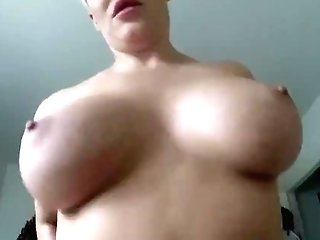 Thick Blonde Cougar Wakes You Up With A Bj